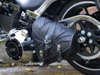 3D Skull Black Top Leather Swingarm Left Single Bag for Harley Davidson Breakout